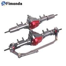 Fimonda RC przednia i tylna oś ze stopu prosto oś do 1/10 gąsienica RC oś samochodu SCX10 90046 90047 części zamienne