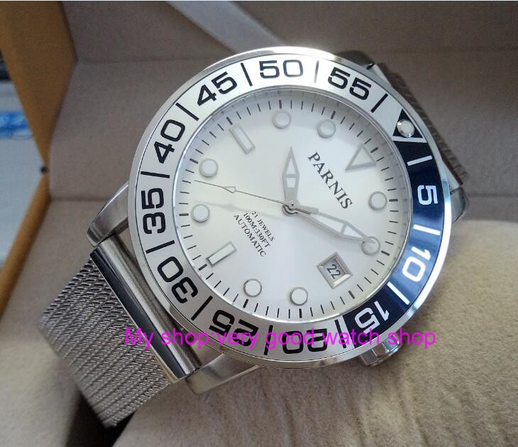 42mm <font><b>PARNIS</b></font> Sapphire Crystal Japanese 21 jewels Automatic Self-Wind Movement Mechanical watches <font><b>10Bar</b></font> Luminous Men's watches 58 image
