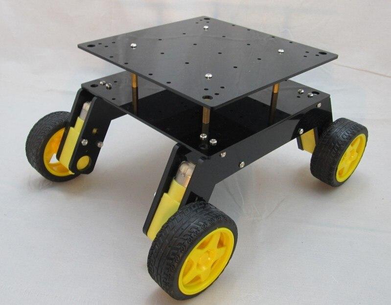 Four-wheel drive robot 4WD suspension platform for intelligent car wheeled off-road performance HC-8 125RPM