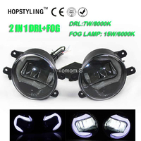 High Quality 2in1 Highlight LED DRL Daytime Running Light LED Fog Lamp For Toyota Corolla 2009