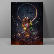 Infinity Gauntlet Canvas Painting Infinite War Thanos Movie Poster Wall Pictures Superhero Comics Living Room HD Print Decor