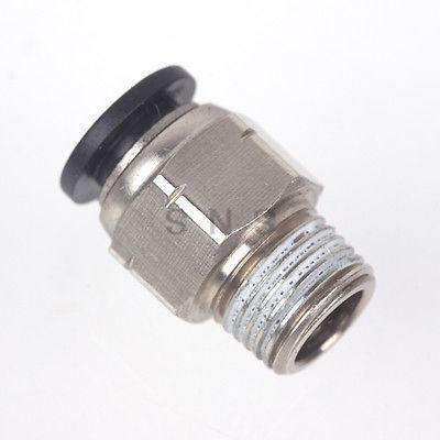 Male Straight Connector Imperial British Standard Tube OD 3/8 to NPT 1/8 1/4 3/8 1/2 Thread Push In To Connect Fitting