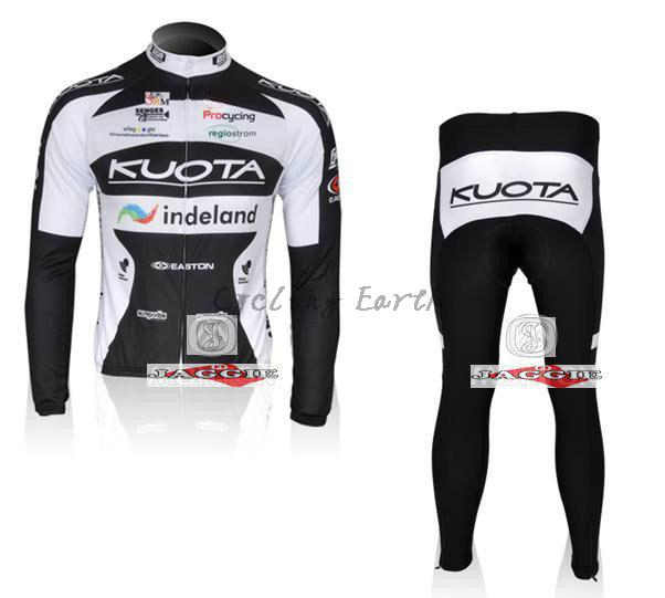 3D Silicone!!! Kuota long sleeve cycling wear clothes bicycle/bike/riding jerseys+pants sets 3d silicone cube 2012 team long sleeve autumn bib cycling wear clothes bicycle bike riding cycling jerseys bib pants set
