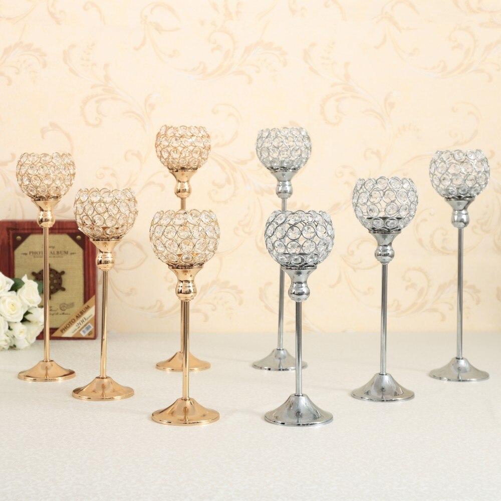 d/écoration de Table Bougeoir pour Mariage Bougeoir Vintage en m/étal Noir 1 Set
