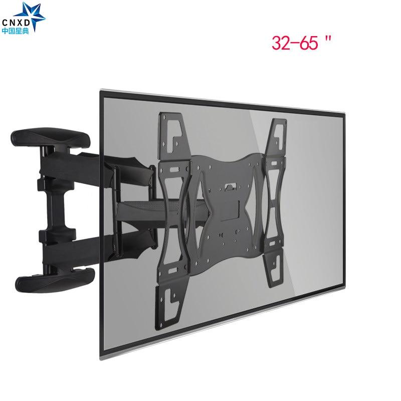 CNXD Dual Arm Articulating Tilt Swivel TV Wall Mount LED LCD Plasma 32 65 Retractable TV