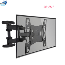 "CNXD Twin Arm Articulating Tilt Swivel TV Wall Mount LED LCD Plasma 32-65"" Retractable TV Wall Bracket LCD Stand Plasma Holder"