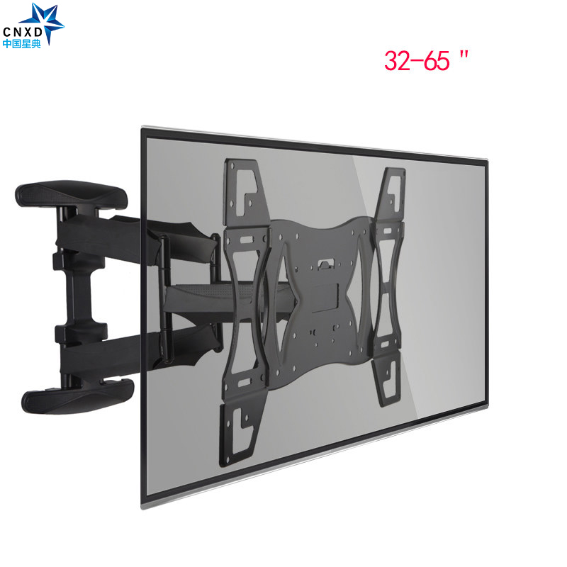 CNXD double bras articulé inclinable pivotant TV montage mural LED LCD Plasma 32-65 ''rétractable TV support mural LCD support Plasma