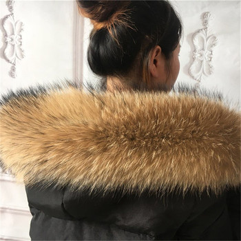 60CM-80CM Winter Real Natural Raccoon Fur Collar Hat Collar High Quality Raccoon Fur Fashion Coat Collar Fur Hair Scarf Shawl japanese anime naruto shippuden uchiha itachi statue pvc figure model figurals toy
