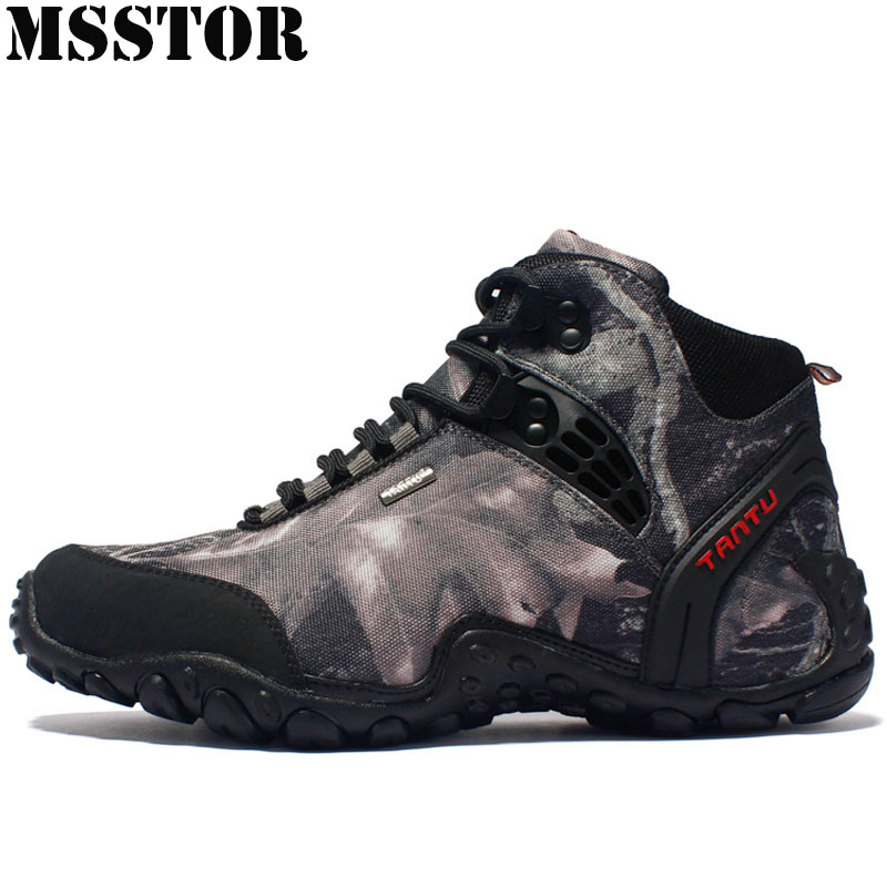MSSTOR Men Hiking Shoes Outdoor Athletic Waterproof Sport Shoes Man Brand Hunting Trekking Climbing Camping Sneakers For Male bolangdi men hiking shoes sports sneakers man athletic shoes waterproof breathable climbing camping outdoor shoes big size 39 48