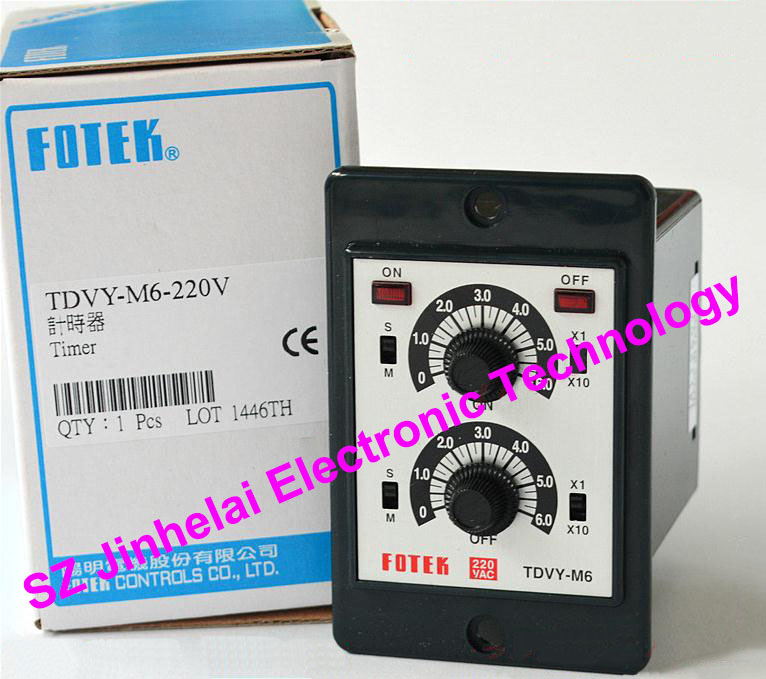 New and original FOTEK Time relay  TDVY-M6-220V 100% new and original fotek photoelectric switch a3g 4mx mr 1 free power photo sensor