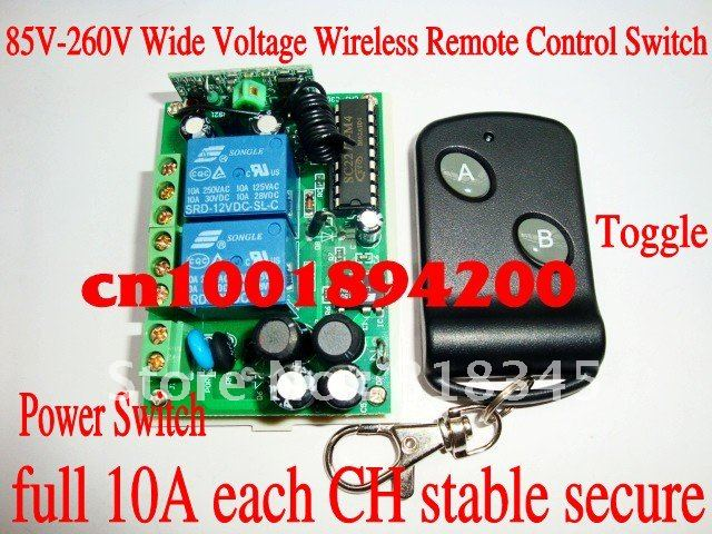 110V2CH wireless switch RF wireless remote control switch system(1transmitter&1receiver)full 10A Toggle/Momentary stable  secure 2pcs receiver transmitters with 2 dual button remote control wireless remote control switch led light lamp remote on off system