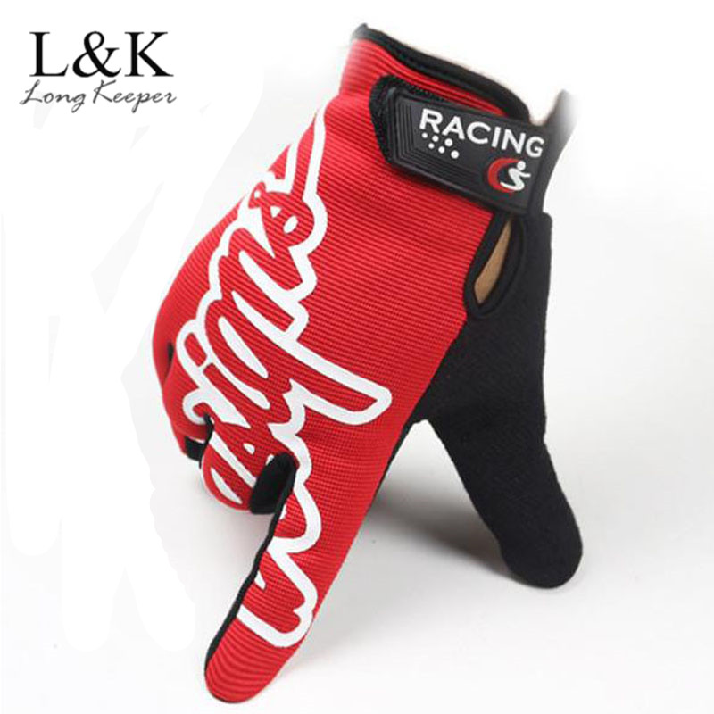 Long Keeper Mens Kiss Screen Gloves Full Finger Gym Gloves Winter Thick Warm Gloves Letter Style Work Out Cycling Gloves