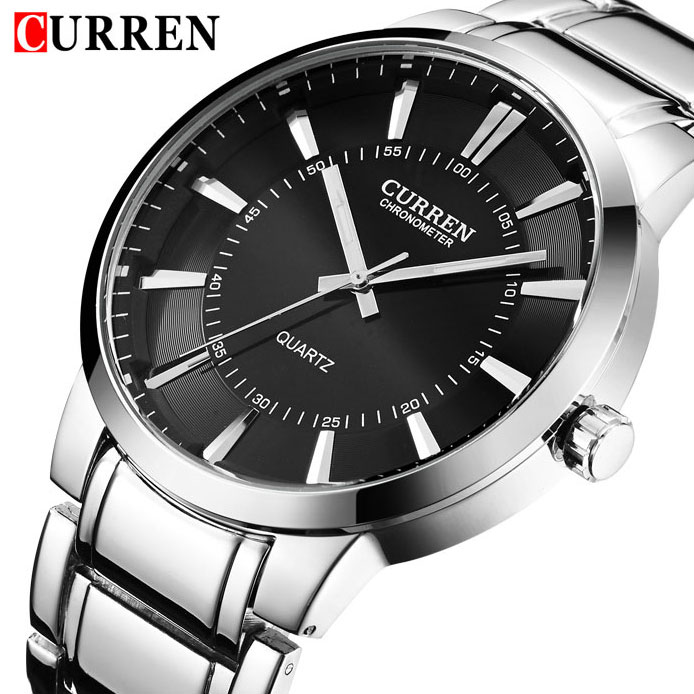 2017 CURREN Top Brand Men's Quartz Watches Men Full Steel Watch Man Casual Sport Clock Male Fashion Wristwatch Relogio Masculino men s watches curren fashion business quartz watch men sport full steel waterproof wristwatch male clock relogio masculino