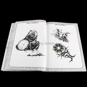 Image 5 - A4 104 דפים קעקוע ספר קישוט פרח בעלי החיים קעקוע שבלונות קעקוע גוף אמנות אביזרי מתאים לגברים נשים