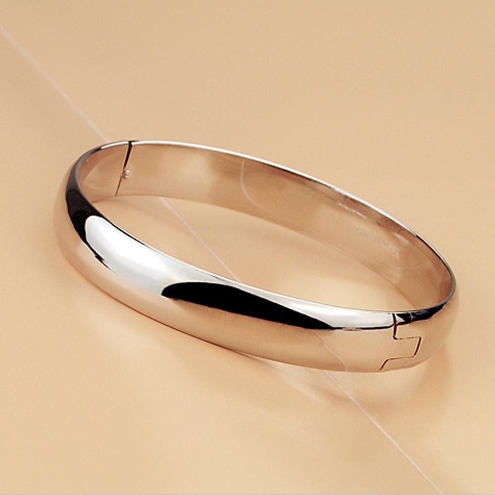 Nuevo 100% 925 Pulsera de plata Mujer Pulsera redonda brillante - Bisutería - foto 3