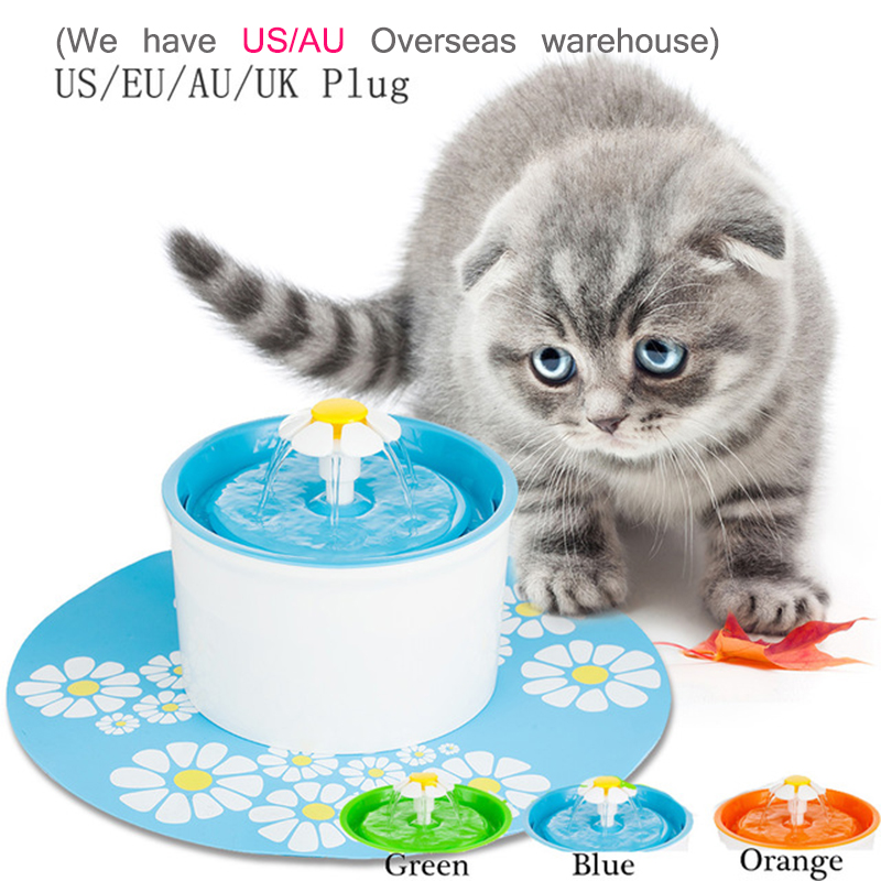 1.6L Flower Style Cat Automatic Pet Feeder Pet Water Feeder Pet Fountain Electric Dog Drinker Bowl Cat Water Dispenser japanese kimono style coat for pet cat dog black pink size m