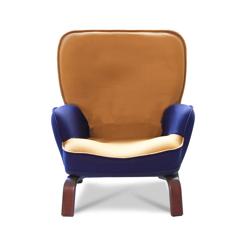 Japanese Low  Sofa Armchair Upholstery Mesh Fabric Wood Legs Living Room Furniture Modern Relax Decorative Accent Chair Design mid century presidential solid oak wood dining chair armchair upholstery seat dining room furniture modern arm chair for home