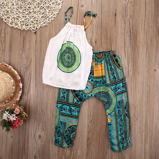 6294d64cb01b girls clothes summer 2016 Bohemia Style Toddler Kids Baby Girls ...