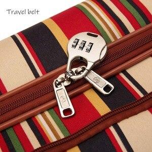 Image 4 - Cinto de viagem 20 polegada oxford rolando conjunto bagagem girador marca feminina mala rodas listra carry on sacos viagem