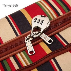 Image 4 - Travel Belt 20 inch oxford Rolling Luggage set Spinner Women Brand Suitcase Wheels stripe Carry On Travel Bags