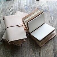 Clássico escola escritório papelaria caderno de capa dura, fino bandagem notebook planejador, 3 tipos de papel interna: Em Branco linha pontos de grade, A5A6