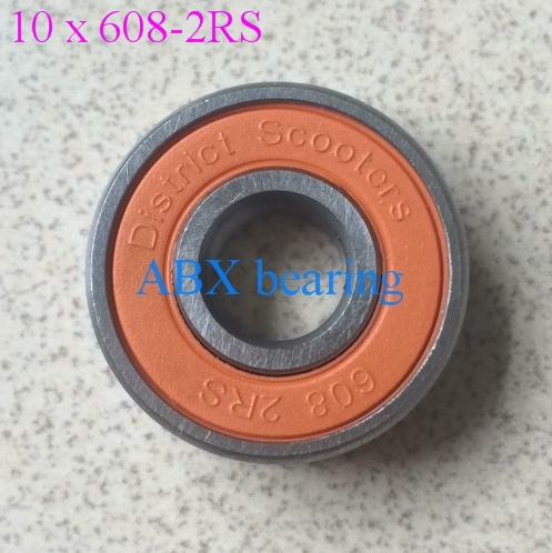 10pcs/lot Skate board bearing 608-2RS 608RS 608 bearing 8x22x7mm shoe bearing 10pcs skate board bearing 686zz 686 2z 686 z 6x13x5 mm 2015 new coming shoe bearing abec3