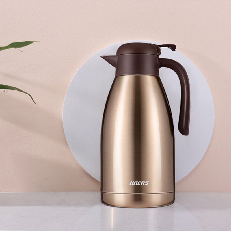 Haers 2L Water Pot Thermal Bottle Thermos Cup 304 Stainless Steel Coffee Tea Kettle Thermos Mug Thermal Water Bottle in Vacuum Flasks Thermoses from Home Garden