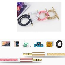 Male to male 3.5mm audio aux cable 1m 35 jack to 3 . 5 mm jack Car aux cable for iPhone for beats speaker aux cord MP3/4
