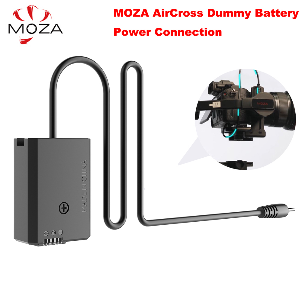 лучшая цена MOZA AirCross Dummy Battery DC Adapter Power Connection for Sony (Black Color) A7 or for Panasonic (Grey Color) GH4 GH5 Camera