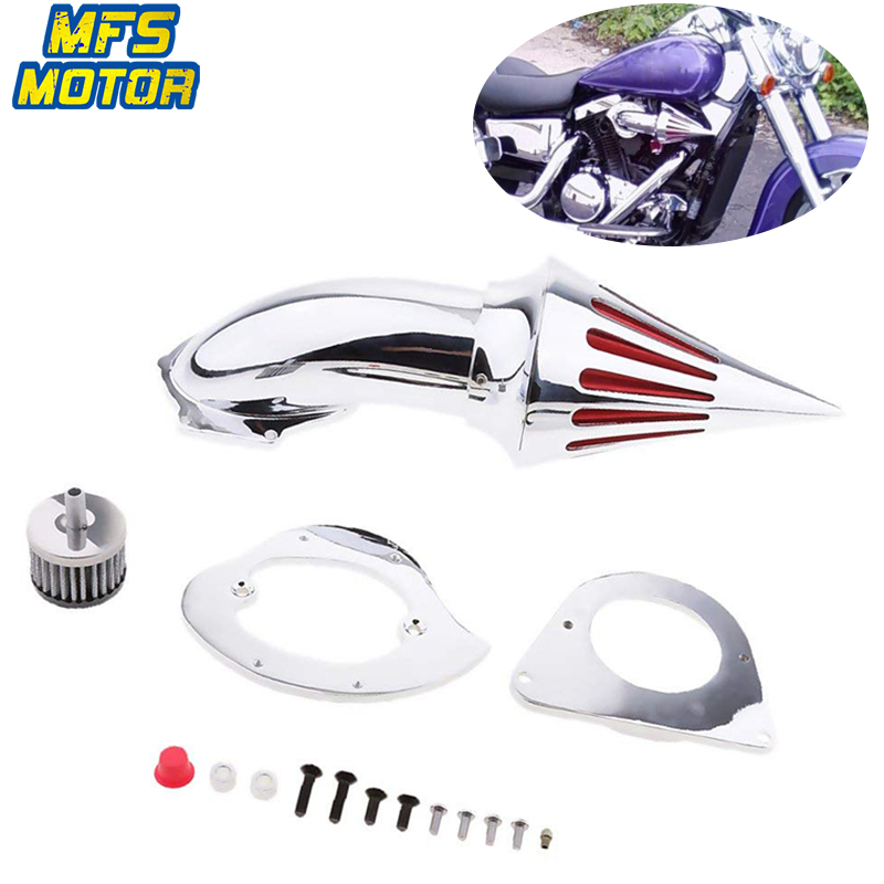 For 95-12 Kawasaki Vulcan 800 VN800A Classic Spike Cone Air Cleaner Intake Filter Kit Motorcycle Accessories Part 1995 1996-2012 motorcycle spike air cleaner intake filter for 1995 up kawasaki vulcan 800 vn800a vn800 classic
