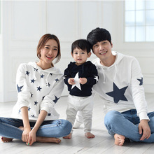 2016 new spring Korean mother father baby Sweatshirts Hoodies Couples clothing mother and daughter matching outfits