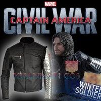 Лаки для ногтей только Капитан Америка 3: Civil War Winter Soldier Джеймс Бьюкенен баки Barnes Косплэй костюм для взрослых Для мужчин
