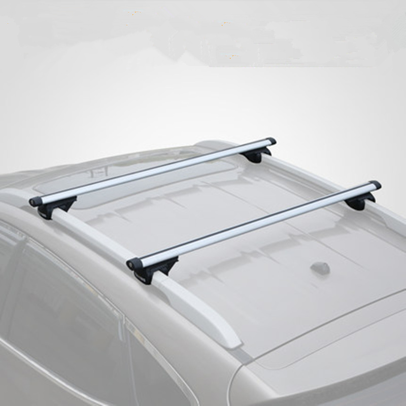 CARSUN 1x Universal Roof Rack Aluminum Luggage Box Roof Cross bar Rail Top Box Luggage Boat Carrier 110-135cm Luggage Car Rack