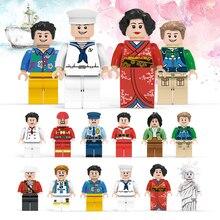 12 Pçs/set Figuras DIY Cidade Policial Bombeiro marinha Conjunto Da Cidade Blocos de Construção de Brinquedos Educativos para Crianças Montado blocos de presente da Criança