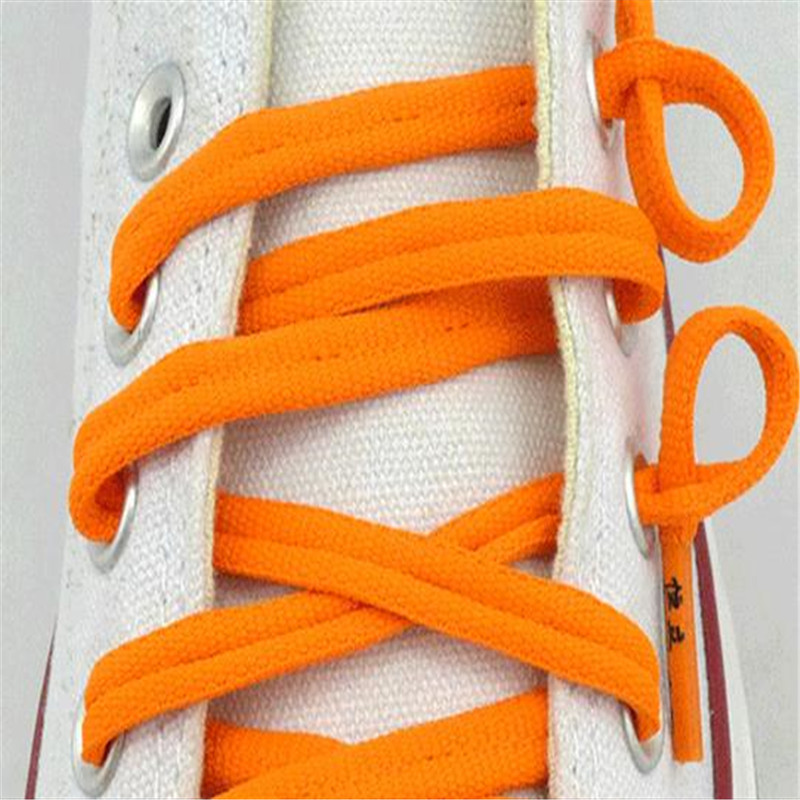 1 Pair Childrens shoelaces flat outdoor sports and leisure anti-slip shoe lace lazy lace buckle ASL674A