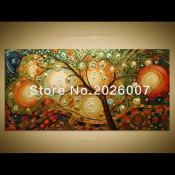 Hand Made Large Wall Art tree Painting Landscape Oil Acrylic on Canvas Gift Modern Home Decor Wall Art Painting