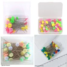 1 Box Stainless Steel Dressmaking Pins Embroidery Patchwork Accessories Tools Sewing Needle DIY