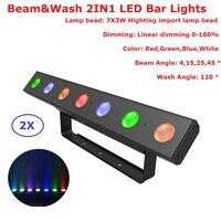 Fast Shipping 2Pcs Lot 7X3W RGBW Quad Color Indoor Led Bar DMX Wall Washer Led Bar