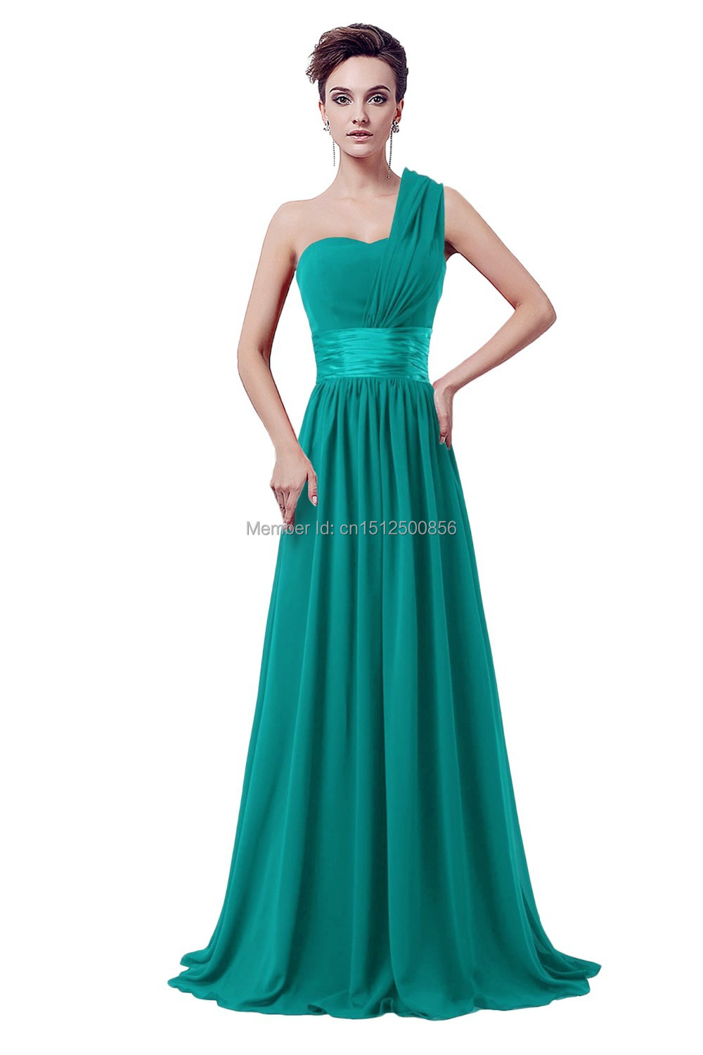 New arrival long emerald green bridesmaid dress wedding for Emerald green dress wedding guest