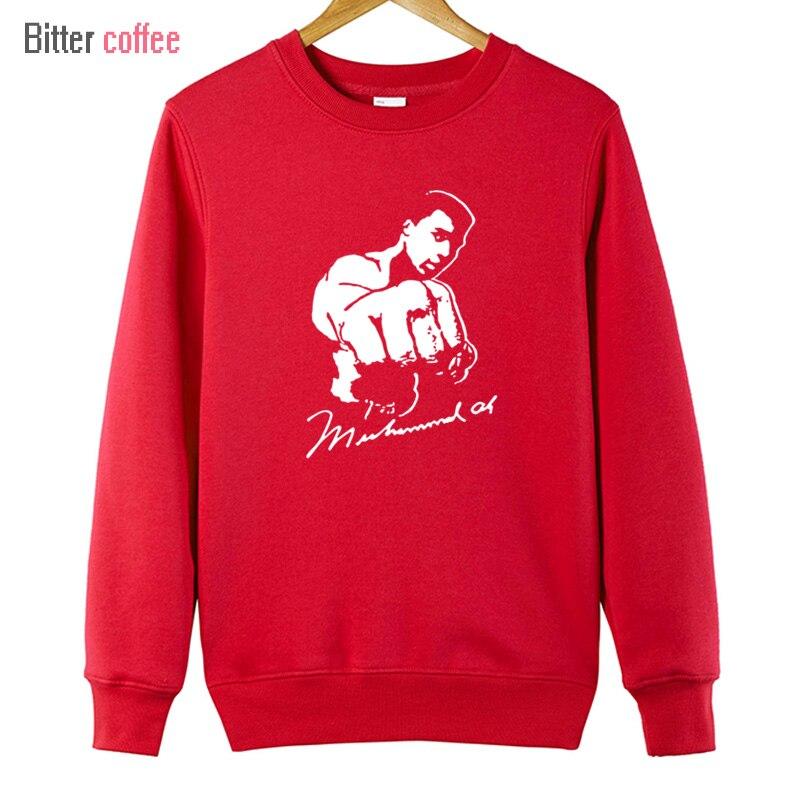 쓴 커피 MMA 무하마드 알리 후드 남성 새로운 인쇄 후드 재미 남성 스웨터 캐주얼 후드 & 스웨터