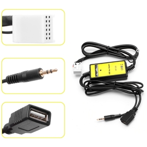 Image 2 - New Car USB Aux in CD Adapter MP3 Player Radio Interface 12 Pin For VW Audi Skoda Seat