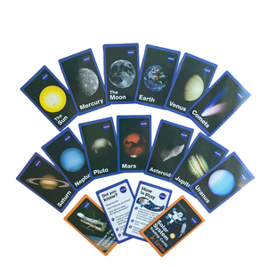 Image 4 - Детская Вселенная игра DDWE на солнечной батарее, обучающая английская флеш карта Марса/ртути, обучающая карта Монтессори для детского сада