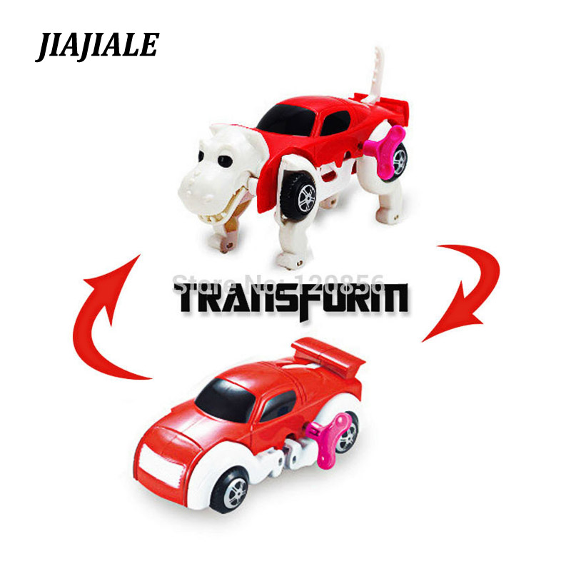 14cm Automatic Dinosaurs Transforming to <font><b>Car</b></font> Wind-Up Clockwork No <font><b>need</b></font> <font><b>batteries</b></font> Transformation toys for children gir boy gift image