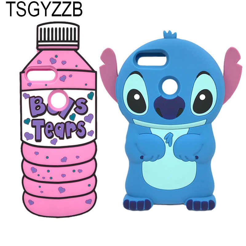 e73031cb43d Case For Huawei Honor 9 Lite 9i Cases Cute Cartoon Stitch Bottle Soft  Silicone ShockProof Cover