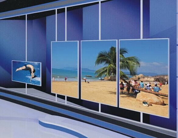 4x8 pcs LG 55inch panel 0 mm bezel LCD video wall CCTV Monitor
