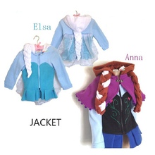 2015 NEW Princess cospaly Elsa Anna child winter girls clothing sweatshirts casual jackets hoodies kids coat