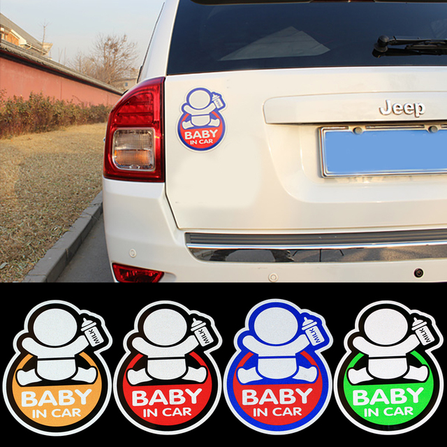 Top selling 3m car sticker reflective magnetic baby in car decal sticker shop for porsche suzuki