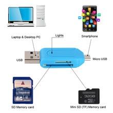 2 в 1 USB OTG TF SD флэш-память Micro Card Reader адаптер Micro usb зарядный кабель для телефонов Android и планшетных ПК