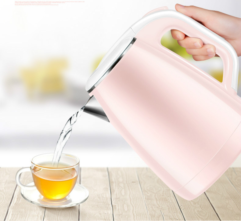 High quality Electric kettle household automatic power 304 stainless steel Overheat Protection free shipping electric kettle automatic power double layer heat insulation 304 stainless steel overheat protection
