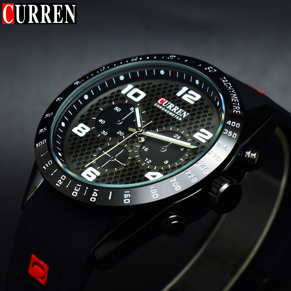 Top Brand Luxury CURREN Men Sports Watches Male Clock Army Mens Quartz Military Waterproof Wristwatch Sport Relogio Masculino relogio masculino original curren wristwatches mens watches top brand luxury silicone sports watches military army waterproof
